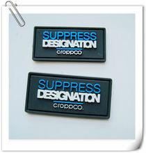 Personalizado pvc/de goma/etiqueta de silicona con el logotipo de