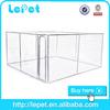 manufacturer wholesale galvanize tube chain link dog kennel runs/kennel for dog/ss animal enclosure rope mesh