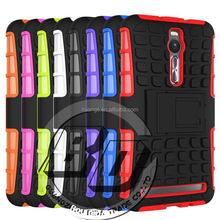 Top Selling Durable heavy duty armor rugged kickstand case for ASUS ZenFone 2(5.5) hard case fast delivery