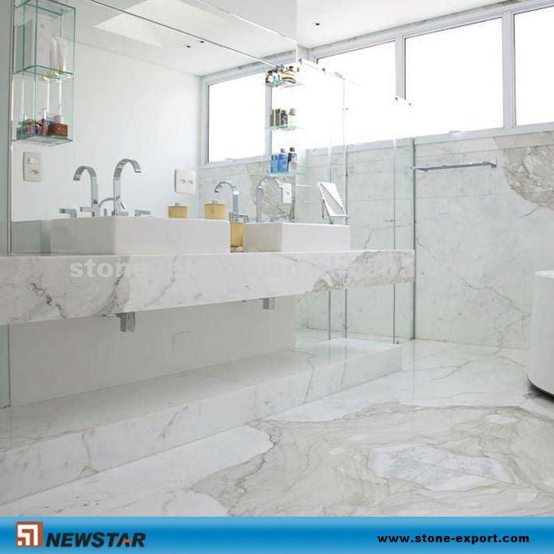 Top bagno e piastrelle di marmo bianco tavolo da pranzo id - Bagno marmo bianco ...