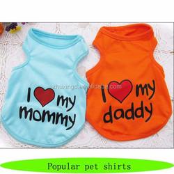 Pets dog shirt i love daddy mommy, dog tank top, pet t shirt