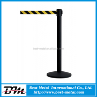Black Iron with braking system concert crowd control barrier