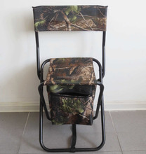Hot selling outdoor flat folding fishing cooler bag with chair manufacturer