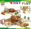 2015 Orignal design wood children outdoor playground factory