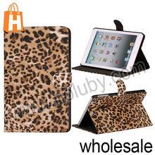 Ultrathin Notebook Type Tiger Pattern Magnetic Cover Folio Stand Leather Case for iPad Mini/Retina iPad Mini (2 Colors Optional)