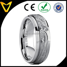 Vlink jewelry men's women's christmas hand engraved hammered titanium wedding ring gifts unisex band