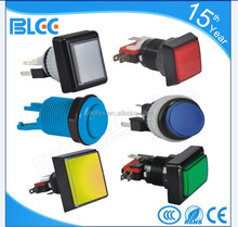 Game Machine Accessory Colorful Illuminated Led Arcade Electric Push Button