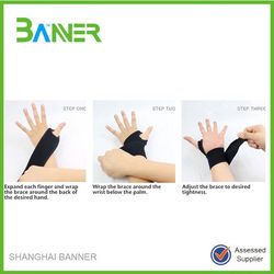Workout Wrist protector Sleeve Wrap Rubber Wrist Support