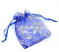 snowflake organza bags