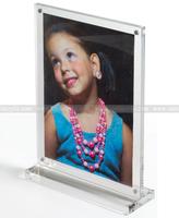 5 x 7 Acrylic Magnets Photo Frame , T-shaped Acrylic Magnetic Upright Photo Frame