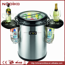 Wholesale Factory Price Totally CFC Free R600A Plastic Ice Bucket Cooler With Metal Lid
