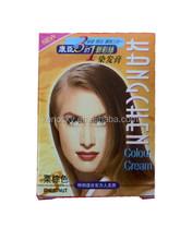 Castaña crema de tinte para cabello tinte su belleza crema para el cabello