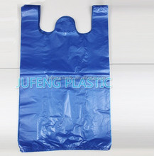 White/blue/pink/green /yellow/purple/red vest handle plastic bags