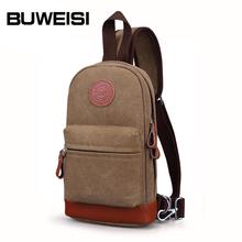 BUWEISI men's canvas single shoulder chest sling bag for IPad