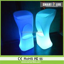 Christmas lights plastic changeable led stool with high lumen led lighting
