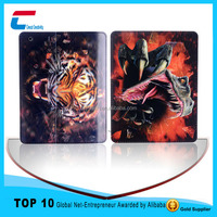 Top quality best selling custom for ipad 4 tablet leather case , 3D printing PU leather case for ipad 4