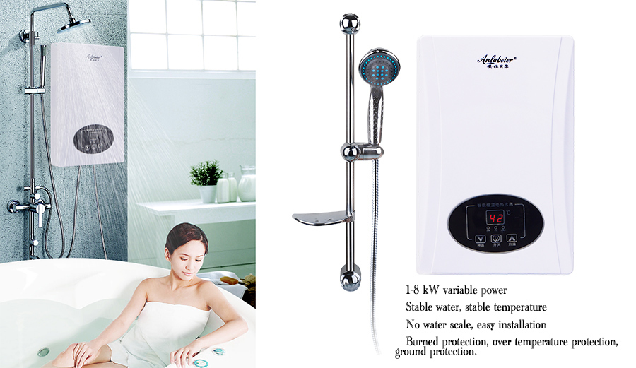 Scaldabagno elettrico istantaneo per doccia - Scaldabagno elettrico istantaneo ...