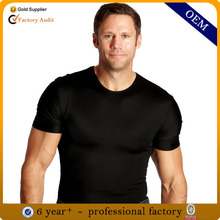 92% polyester 8% spandex men's t shirt