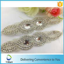 Fashion decorative handmade crystal transfer rhinestone applique for garment decoration