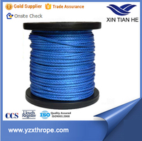 high quality 12 strand UHMWPE braided winch rope 6-96mm