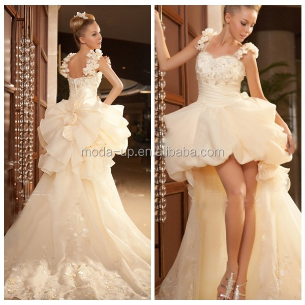 Wholesale sexy short front long back wedding dress cheap for Cheap wedding dresses made in china