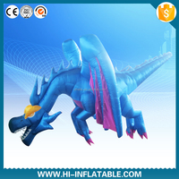 2015 hot sale advertising high quality lovely big inflatable fly dragon