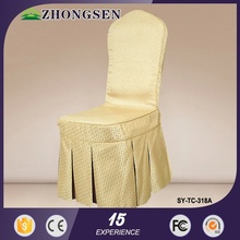 Factory Price banquet White Wedding satin chair cover wrap