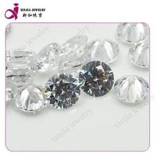 Hight quality decorative white stone synthetic diamond rough price aaa cubic zirconia