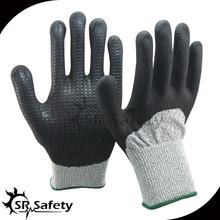 SRSAFETY black nitrile medical gloves wholesale with nitrile dots