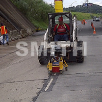 MADE IN USA, hot melt road marking paint removal machine