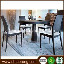 Diseño moderno para el hogar muebles juego de comedor con mesa redonda para el chalet trdt- 396