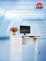 Hot sale office furniture single pedestal stainless steel office computer desk, office table