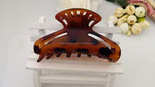 Brown plastic claw tortoise shell hair clamps claws for hair salon