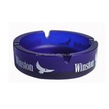 2015 stylish blue round glass ashtray glassware