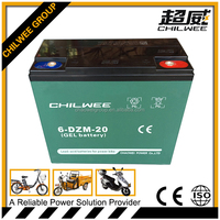 12v20Ah sealed lead acid(SLA) rechargeable battery for electric bicycle