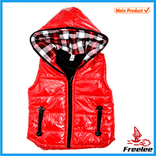 2015 Girls Red Puffer Vest with Hood