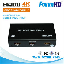 Foxun one HDMI input four HDMI output supported 4K2K HDCP compliant HDMI splitter