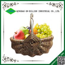China barato de natal personalizado oval pequena vime cestas