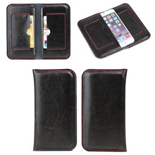 Pouch wallet PU leather case for iphone 6, for apple iphone 6