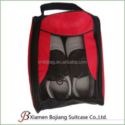cheap custom portable golf shoes bag with mesh
