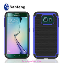 Combo Case For Samsung S6 edge, Silicone triple defender case for Samsung Galaxy S6 edge