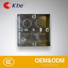 Made in China Iron switch boxes,, flush mounting electrical box