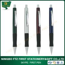 Black Rubber Grip Metal Pen