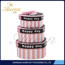 Fashion all occasion paper nested boxes for birthday cake China food safe