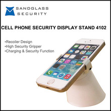 Retail Shop Display Magnetic Multiple Mobile Phone Holder With Alarm And Charging Functions