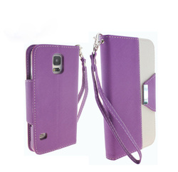 Leather Wallet Case For Samsung Galaxy S5 Accessories / For Galaxy S5 i9600 Kickstand Case / Back Cover For Samsung S5 i9600