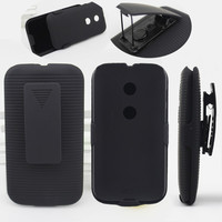 Durable combo holster case for motorola e xt1021 back cover