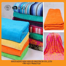 Factory wholesale 100% cotton reactive printed beach towel stock lot