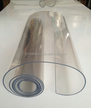 factory price transparent clear flexible soft pvc sheet plastic film roll for table cloth