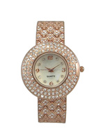 Trendy style stone studded vogue ladies watch